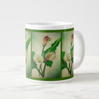 Three Calla Lilies Giant Coffee Mug