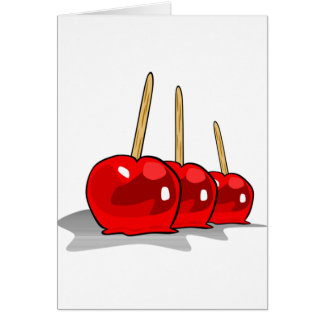 Three Candied Apples Note Cards