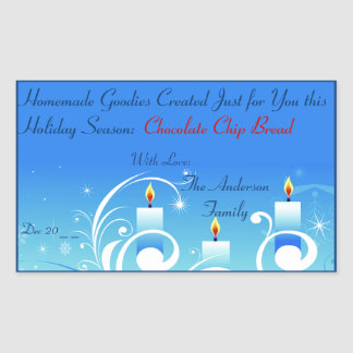 Three Candles Homemade Gift Holiday Label