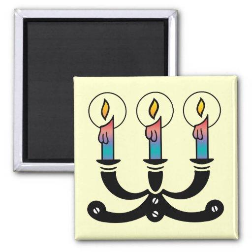 Three Candles Fridge Magnets