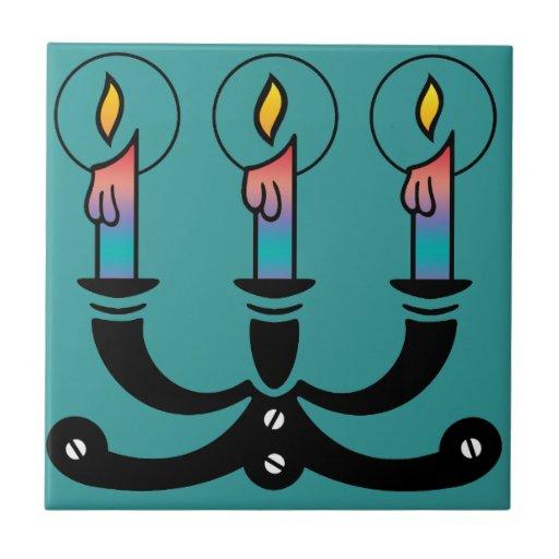 Three Candles Ceramic Tiles