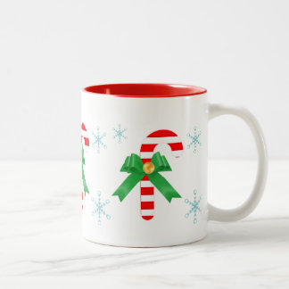 Three candy canes Two-Tone coffee mug