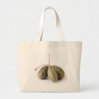 Three Capers Large Tote Bag