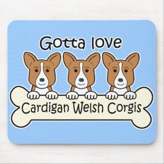 Three Cardigan Welsh Corgis Mouse Pad