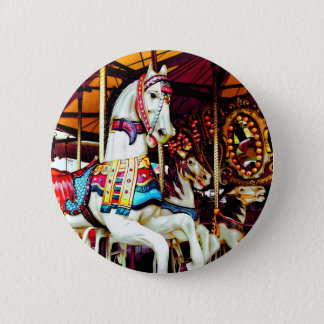 Three Carousel Horses 2 Inch Round Button