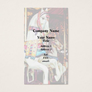 Three Carousel Horses Business Card