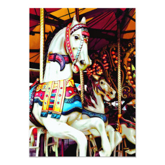 Three Carousel Horses Card
