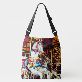 Three Carousel Horses Crossbody Bag