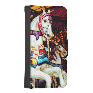 Three Carousel Horses iPhone SE/5/5s Wallet Case