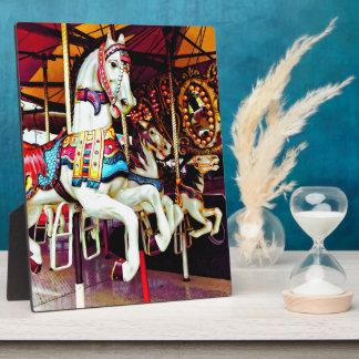 Three Carousel Horses Plaque