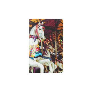 Three Carousel Horses Pocket Moleskine Notebook