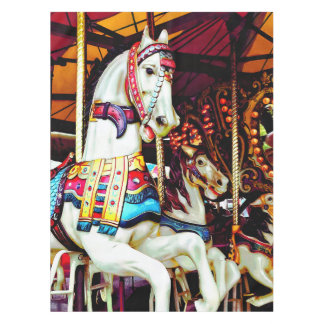 Three Carousel Horses Tablecloth