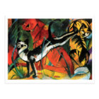 Three Cats by Franz Marc Postcard