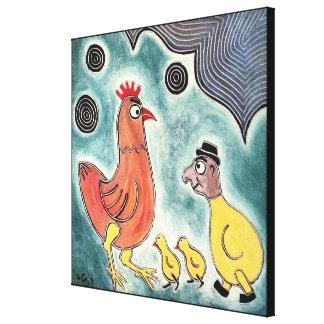 Three chicks by rafi talby canvas print