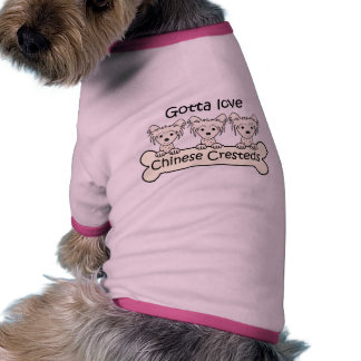 Three Chinese Cresteds Pet Clothing