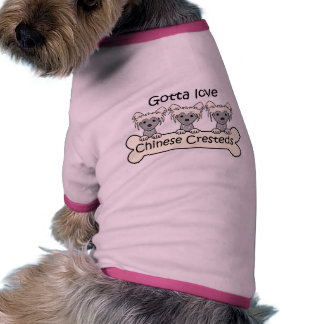 Three Chinese Cresteds Doggie Tshirt