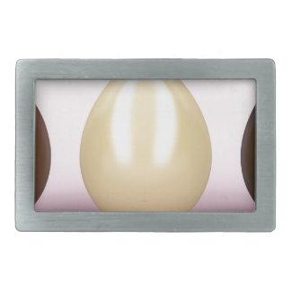 Three chocolates eggs rectangular belt buckles