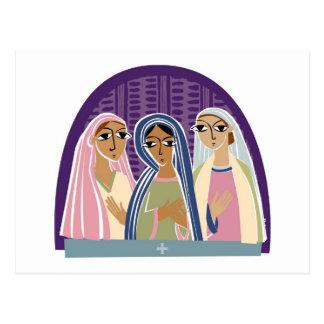 Three Christian Bridesmaids Postcard