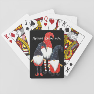 Three Christmas Elf  Playing Cards