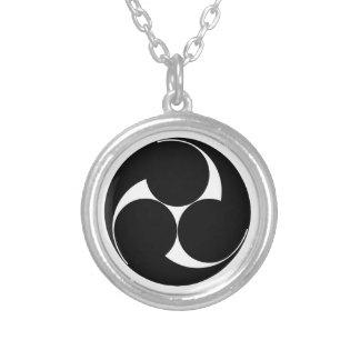 Three clockwise swirls (Sugaki) Silver Plated Necklace