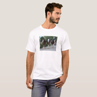 Three Clydesdale horses T-Shirt