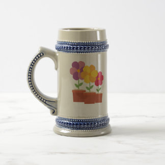 Three colorful Flowers Zo728 Beer Stein