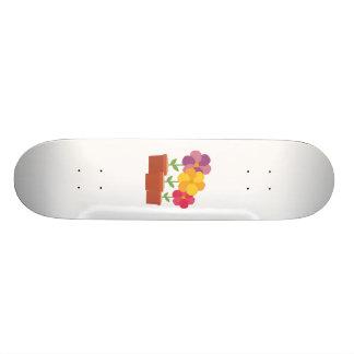 Three colorful Flowers Zo728 Skateboard Deck