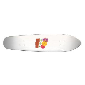 Three colorful Flowers Zo728 Skateboards