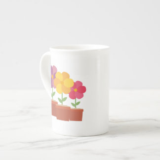 Three colorful Flowers Zo728 Tea Cup
