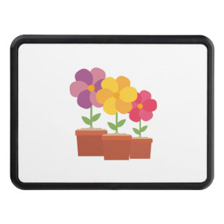 Three colorful Flowers Zo728 Trailer Hitch Cover