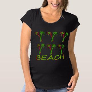 three colorful palm trees maternity T-Shirt
