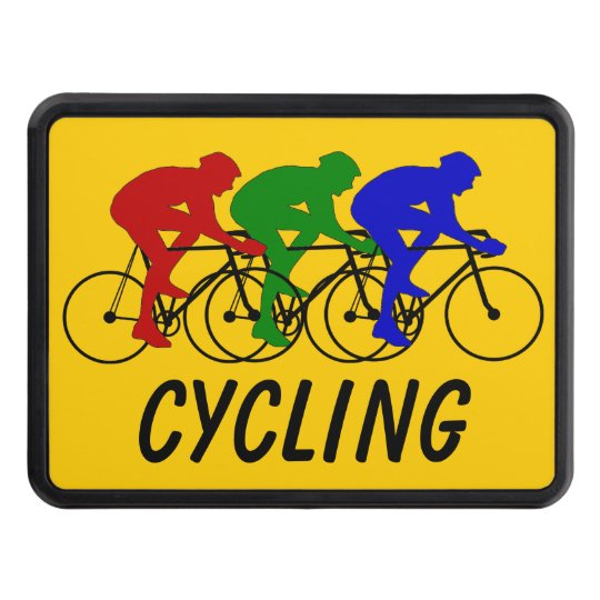Three Colour Cyclists Trailer Hitch Cover