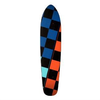 Three Coloured Tiles Design Skateboard