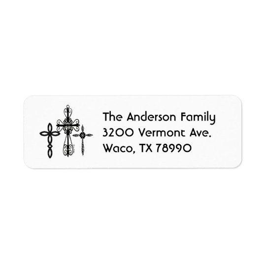 Three Cross Address Label