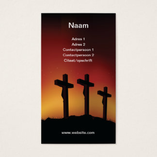 Three crosses business card