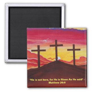 Three Crosses Calvary Crucifixion Easter Magnet