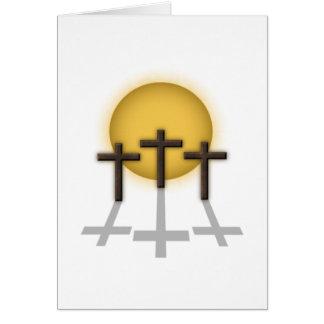 Three Crosses Card