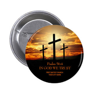 Three Crosses Christian Church Button