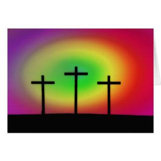 Three Crosses glow Card