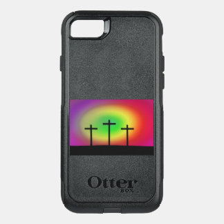 Three crosses glow OtterBox commuter iPhone 8/7 case