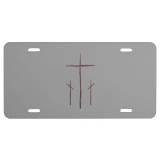 Three Crosses on Calvary License Plate