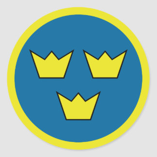 Three Crowns Swedish Emblem Classic Round Sticker