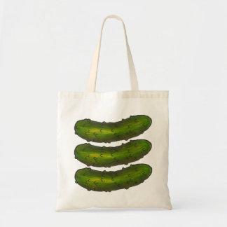 Three Crunchy Green Dill Pickles Pickle Tote Bag