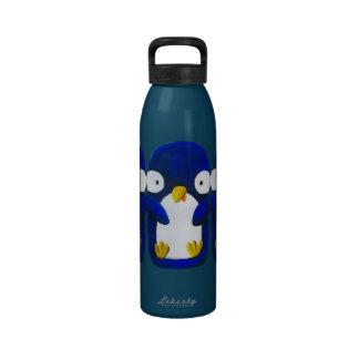 three cute penguins water bottle