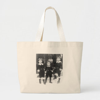 Three Cute Young Boys Vintage Photo Canvas Bags
