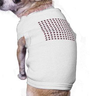 Three-D Patriotic Stars Doggie T-shirt