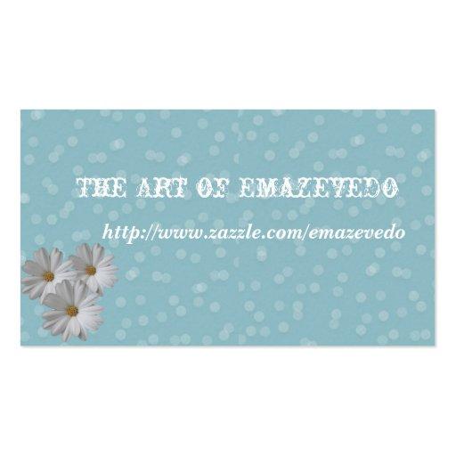 Three daisies business card