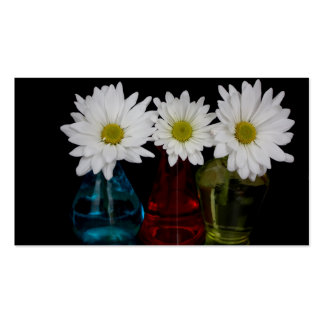 Three Daisies In Cute Jars Business Card
