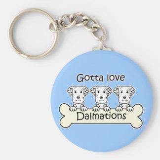 Three Dalmations Basic Round Button Keychain