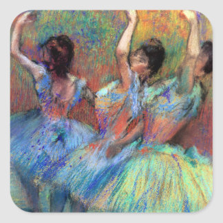 Three Dancers by Degas Square Sticker